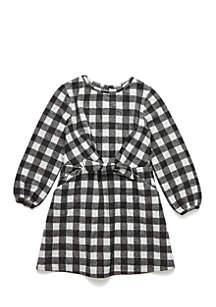 Girls 4-8 Check Dress