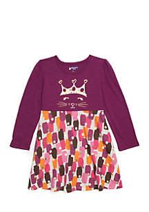 Girls 4-10 Long Sleeve Skater Dress