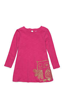 Toddler Girls Long Sleeve A-Line Dress