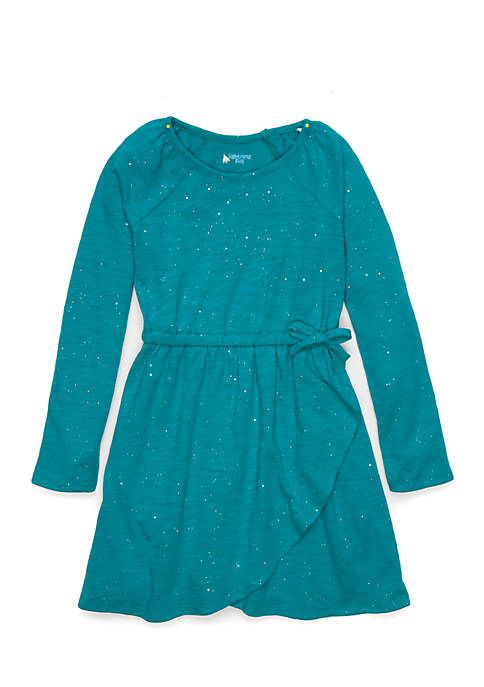 Lightning Bug Girls 4-6x Long Sleeve Wrap Dress