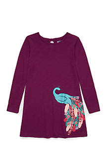 Girls 4-6x Long Sleeve A-Line Dress