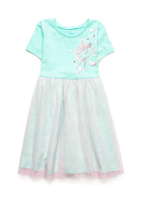 Lightning Bug Girls 4-10 Unicorn Tulle Dress