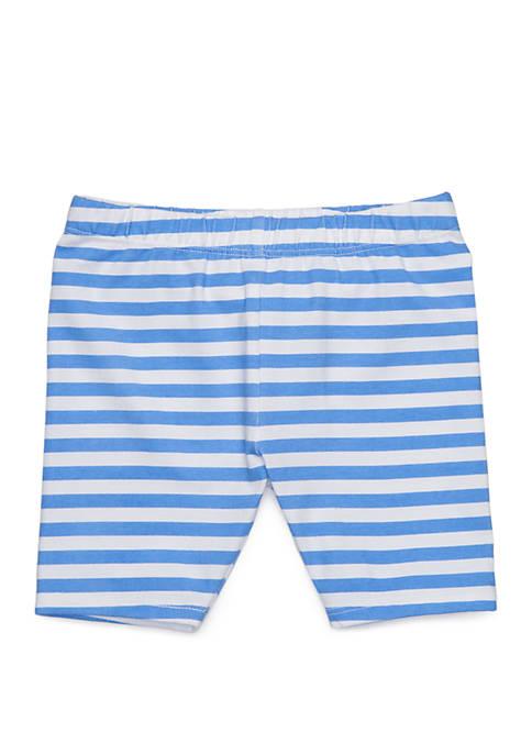 Lightning Bug Girls 4-6x Striped Bike Shorts