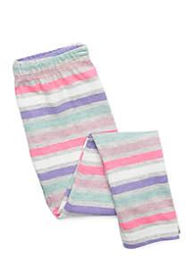 Girls 4-10 Stripe Basic Leggings
