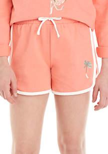 TRUE CRAFT Girls 7-16 French Terry Matchback Shorts