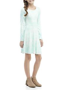 TRUE CRAFT Girls 7-16 Tie Dye Stripe Dress