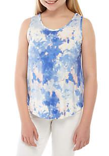 TRUE CRAFT Girls 7-16 Tie Dye Cross Back Tank