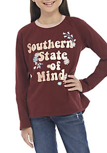 Girls 7-16 Southern Vibes Screen Print Tee