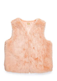 Girls 7-16 Faux Fur Vest