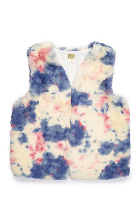 Girls 7-16 Unicorn Faux Fur Vest