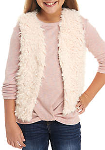 Girls 7-16 Fuzzy Blush Vest
