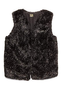 TRUE CRAFT GIrls 7-16 Fuzzy Vest