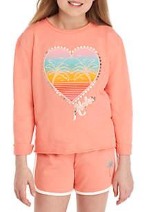 TRUE CRAFT Girls 7-16 French Terry Sweatshirt