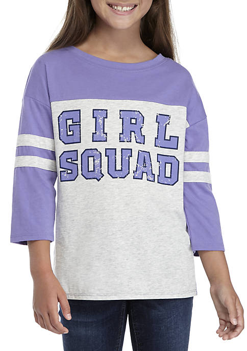 TRUE CRAFT Girls 7-16 Girl Squad 3/4th Sleeve