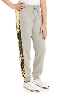 TRUE CRAFT Girls 7-16 Side Sequin Joggers