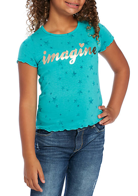 TRUE CRAFT Girls 7-16 Short Sleeve Imagine Stars
