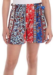 TRUE CRAFT Girls 7-16 Bayadere Matchback Soft Shorts