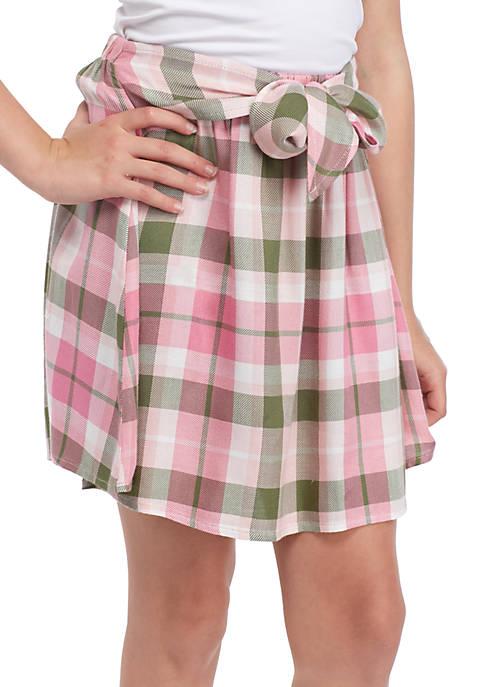 Girls 7-16 Tie Front Skirt