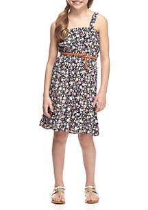 Floral Ruffle Dress Girls 7-16
