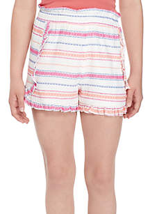 Wonderly Girls 7-16 Ruffle Soft Shorts