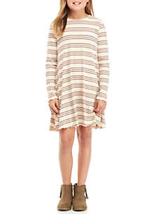 Girls 7-16 Long Sleeve Rib Knit Dress