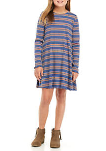Girls 7-16 Long Sleeve Rib Knit Dress