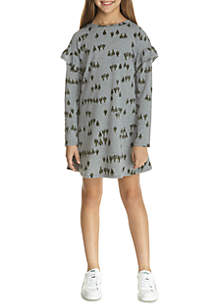 Girls 7-16 Ruffle Sleeve Dress