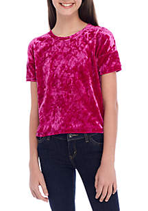 Girls 7-16 Velour Tee