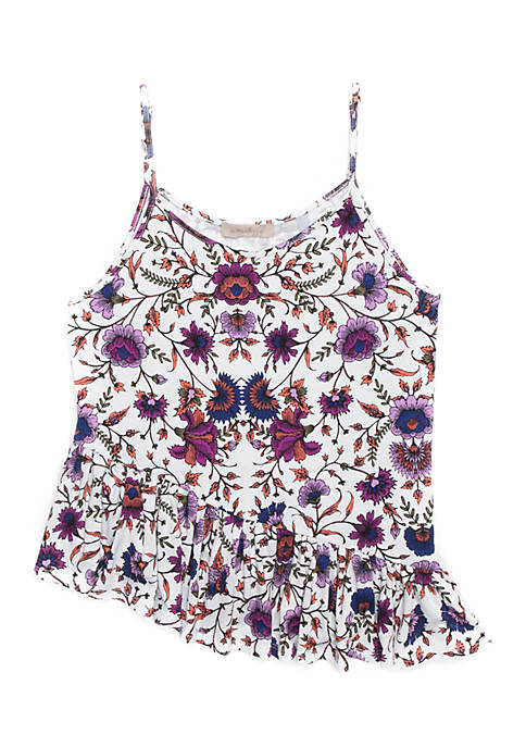 02c5eb031 Wonderly Girls 7-16 Asymmetrical Peplum Cami
