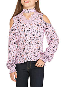Cold Shoulder Choker Top Girls 7-16