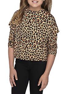 Girls 7-16 Cheetah Sweatshirt