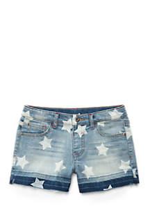 Girls 4-8 Star Denim Shorts