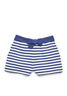 Navy Stripe Set Girls 4-8