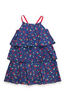Girls 4-8 Cherry Tiered Dress