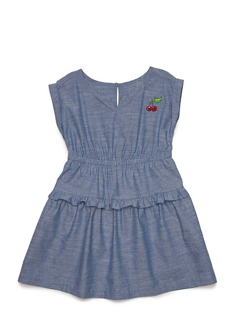 Crown & Ivy™ Girls 4-8 Chambray Dress
