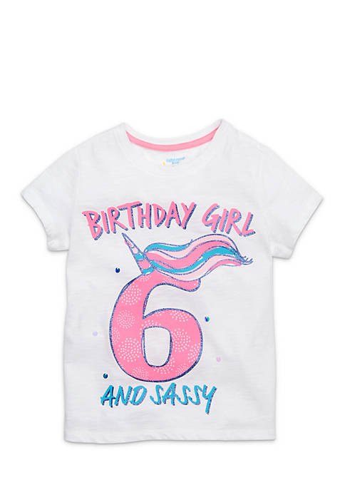 Lightning Bug Girls 4-8 Bday Screen Tee