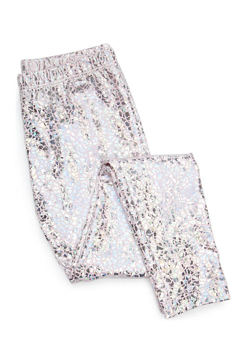 Lightning Bug Girls 4-10 Foil Leggings