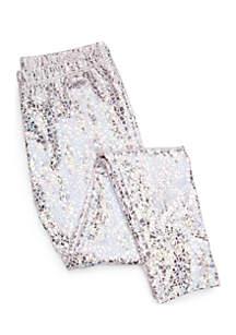 Girls 4-10 Foil Leggings