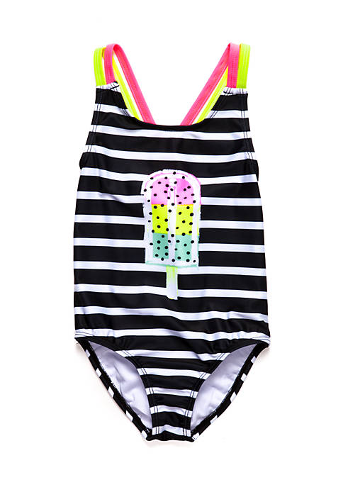 Lightning Bug Girls 4-10 Popsicle One-Piece Swimsuit