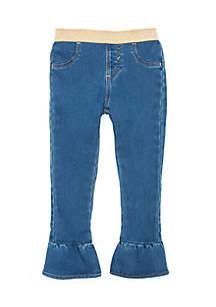 Girls 4-8 Pull-On Denim Pants