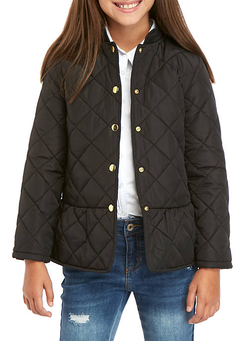 Crown & Ivy™ Girls 7-16 Barn Jacket