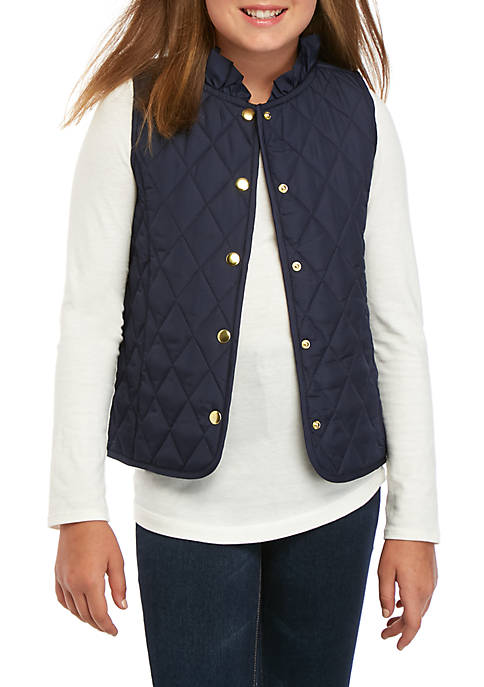 Crown & Ivy™ Girls 7-16 Solid Puffer Vest