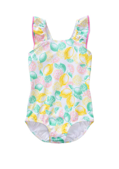 Crown & Ivy™ Girls 7-16 Citrus Print One