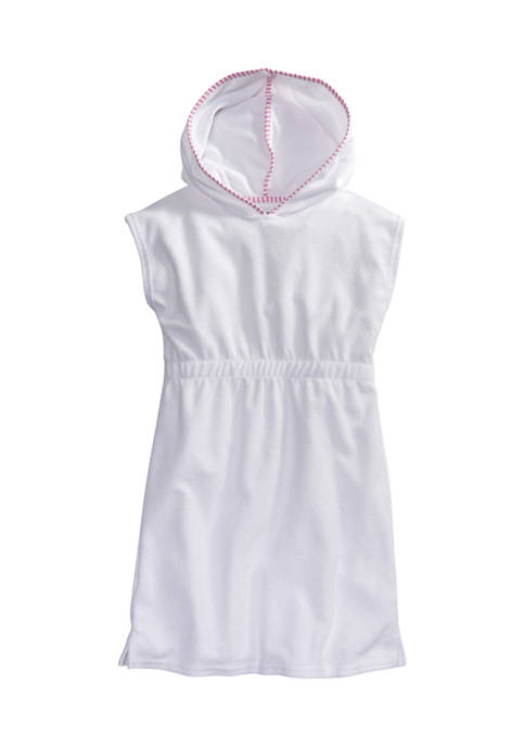 Crown & Ivy™ Girls 4-6x Terry Swim Cover