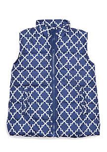 Girls 4-8 Printed Puffer Vest