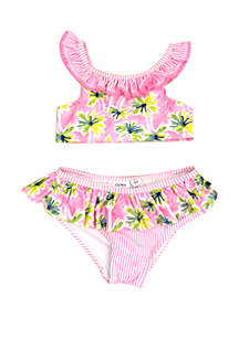 Crown & Ivy™ Girls 4-6x Palm Tree Bikini