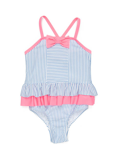 Crown & Ivy™ Girls 4-6x Seersucker One Piece