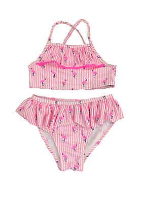 7a9b1ed3bdb97 Crown & Ivy™ Girls 4-6x Flamingo Two Piece Swimsuit ...