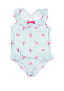 Crown & Ivy™ Girls 4-6x One Piece Swimsuit