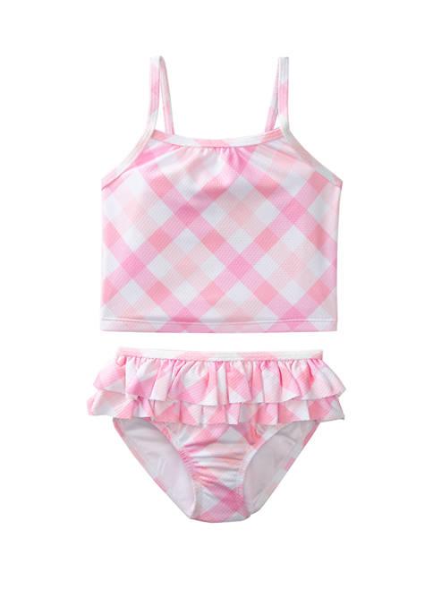 Crown & Ivy™ Girls 4-6x Pink Gingham 2